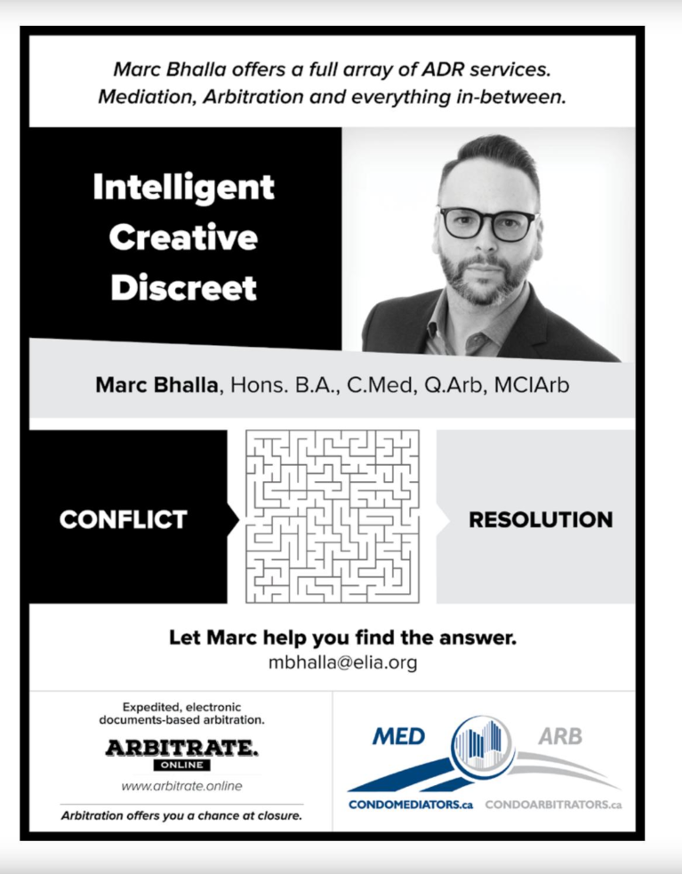 "run 2018-2019 in condovoice magazine to promote marc's mediation + arbitration practice... each issue this ad appeared in featured a different ""conflict-to-resolution puzzle"""