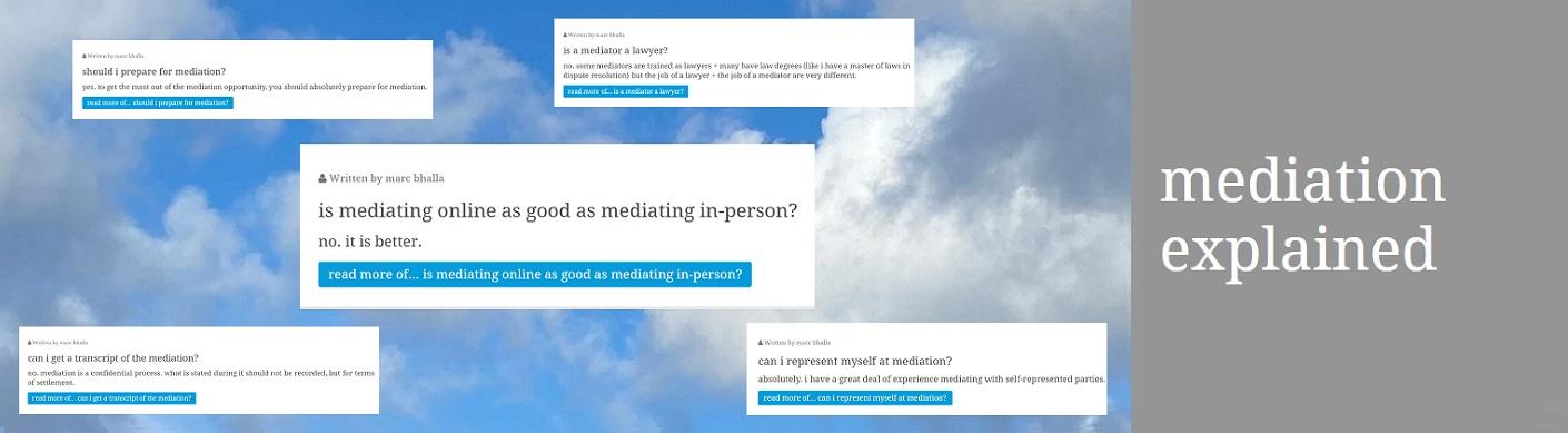 mediation explained...